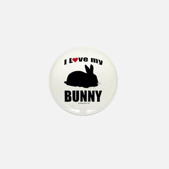 I Love my Bunny ~ Mini Button