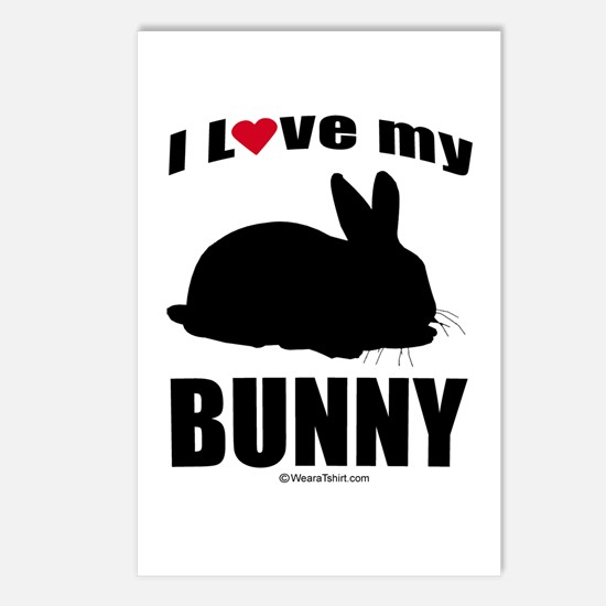 I Love my Bunny ~  Postcards (Package of 8)
