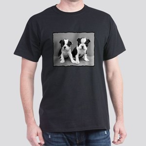 Boston Terrier Puppies Dark T-Shirt