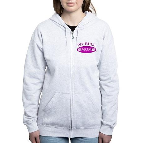 Pit bull Mom Women's Zip Hoodie