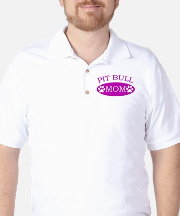 Pit bull Mom Golf Shirt