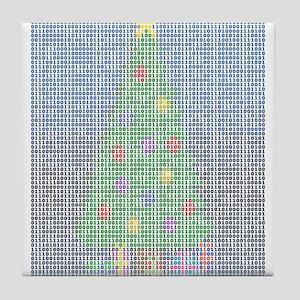 Binary Christmas Carol - O Ta Tile Coaster