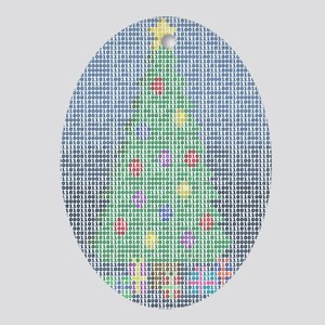 Binary Christmas Carol - O Ta Oval Ornament