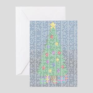 Binary Christmas Carol - O Ta Greeting Card