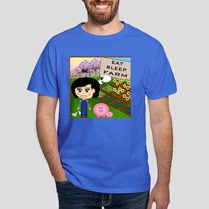 Eat, Sleep, Farm Dark T-Shirt