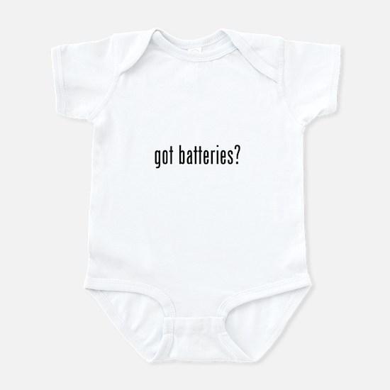 got batteries? Infant Bodysuit