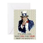 Debt 2 Society Greeting Cards (Pk of 20)