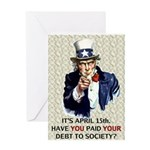 Debt 2 Society Greeting Card