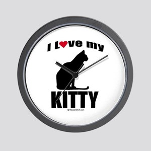 I Love my Kitty ~  Wall Clock