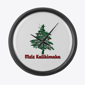 Mele Kalikimaka Large Wall Clock