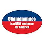Obamanomics Oval Sticker (50 pk)