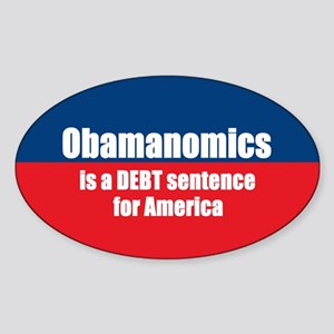Obamanomics Oval Sticker