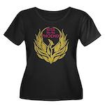 Verity Women's Plus Size Scoop Neck Dark T-Shirt