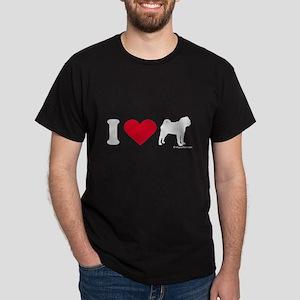 I Love my Pug ~  Black T-Shirt