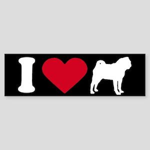 I Love my Pug ~ Bumper Sticker