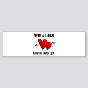 LIBERALS HATE YOU Bumper Sticker