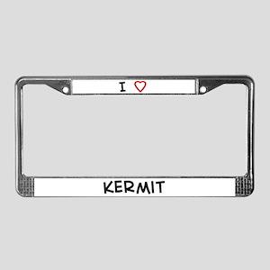 I Love Kermit License Plate Frame