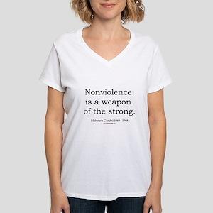 Mahatma Gandhi 15 Women's V-Neck T-Shirt