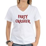 Party Crasher Women's V-Neck T-Shirt