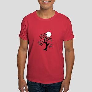 Japanese Tree and Sunscape Yoga Dark T-Shirt