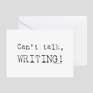 Can't talk, writing Greeting Card