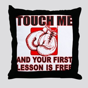 BOXING GLOVES Throw Pillow