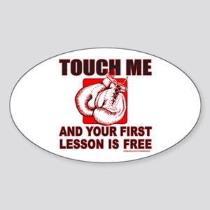 BOXING GLOVES Oval Sticker