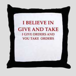 military humor Throw Pillow