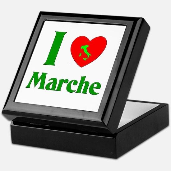 I Love Marche Italy Keepsake Box