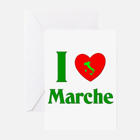 I Love Marche Italy Greeting Cards (Pk of 10)