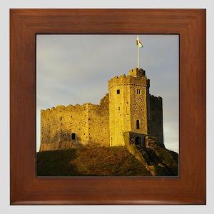 Castle at sunset Framed Tile