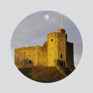 Castle at sunset Ornament (Round)