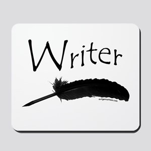 Writer with quill pen Mousepad