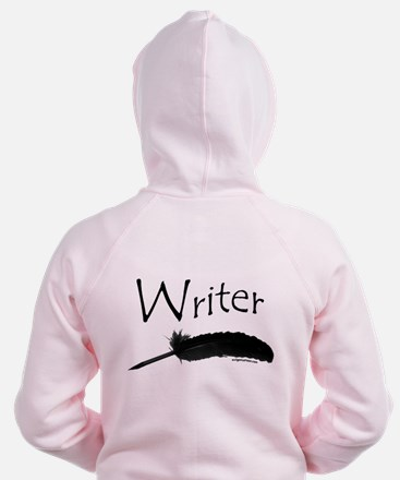 Writer with quill pen Zip Hoodie