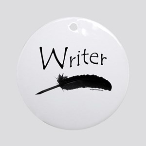 Writer with quill pen Ornament (Round)