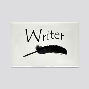 Writer with quill pen Rectangle Magnet