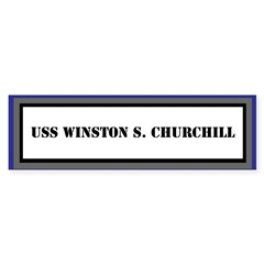 USS Winston S. Churchill Bumper Bumper Sticker