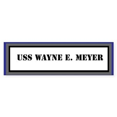 USS Wayne E. Meyer Sticker (Bumper)