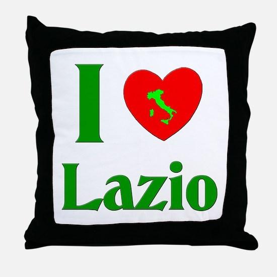 I Love Lazio Italy Throw Pillow