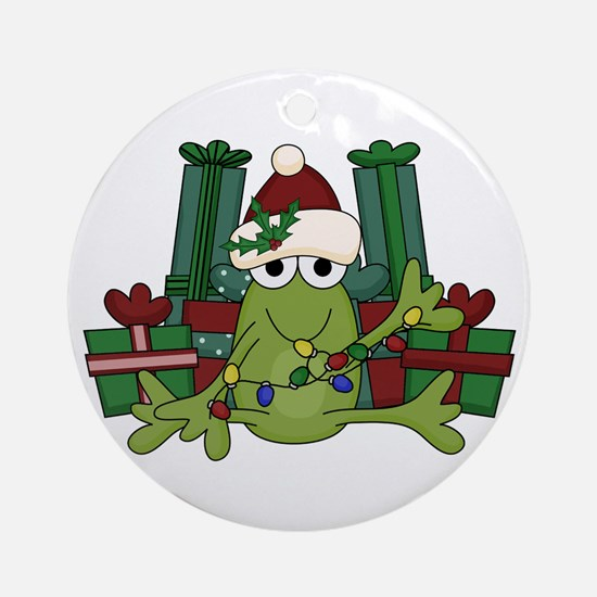 Froggy Christmas Ornament (Round)