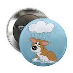 """Rainy Day Corgi 2.25"""" Button"""