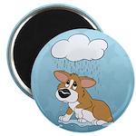 Rainy Day Corgi Magnet