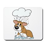 Rainy Day Corgi Mousepad