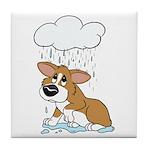 Rainy Day Corgi Tile Coaster