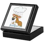 Rainy Day Corgi Keepsake Box