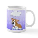 Rainy Day Corgi Mug