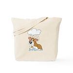 Rainy Day Corgi Tote Bag