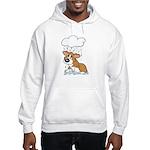 Rainy Day Corgi Hooded Sweatshirt