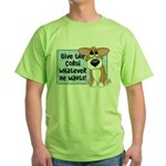 Pathetic Eyes Corgi Green T-Shirt