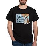 Pathetic Eyes Corgi Dark T-Shirt
